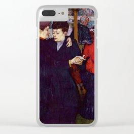 """Henri de Toulouse-Lautrec """"Two Woman Waltzing"""" Clear iPhone Case"""