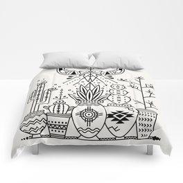 Santa Fe Garden – Black Ink Comforters