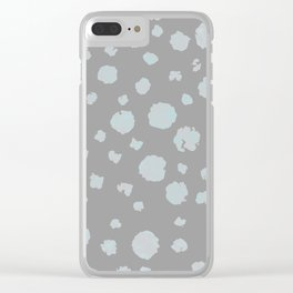 gray and aqua Clear iPhone Case