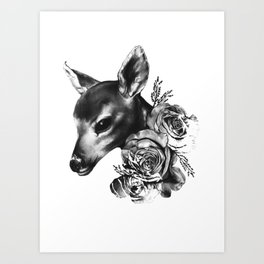 Fawn & Flora II Art Print