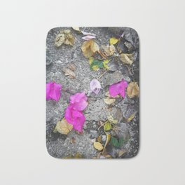 Autumn textures in a street pic ready for fashion items and furnitures Bath Mat