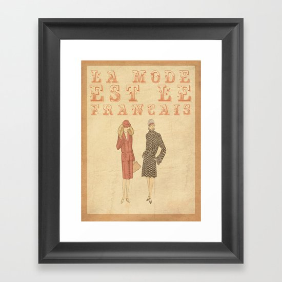 French Fashion Framed Art Print