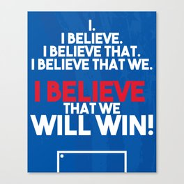 US Soccer - I Believe That We Will Win Canvas Print