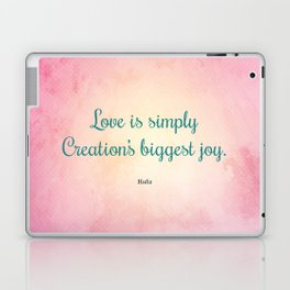 Love is Simply... Quote by Hafiz Laptop & iPad Skin