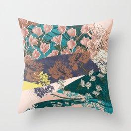 Flower Textures 03 Throw Pillow