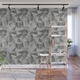 Abstract Geometrical Triangle Patterns 3 Benjamin Moore 2019 Color of the Year Metropolitan Light Gr Wall Mural