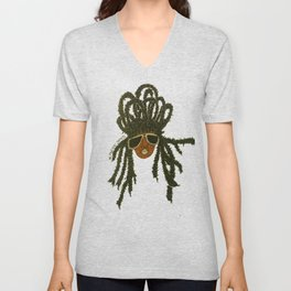 Crown of Locs Unisex V-Neck