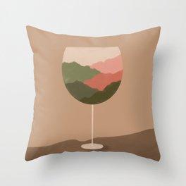 Fresh breeze wine Throw Pillow