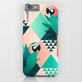 Colorful Geometric Birds I iPhone Case
