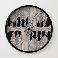 lotr Wall Clocks featuring On the way (The Fellowship of the Ring, LOTR) by Blanca MonQnill Sole