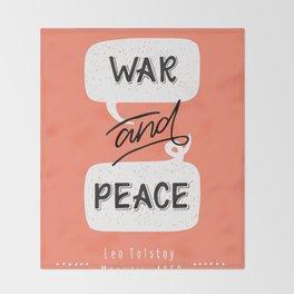 War and Peace hand lettering Throw Blanket