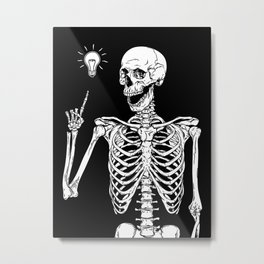 Skeleton got an idea Metal Print