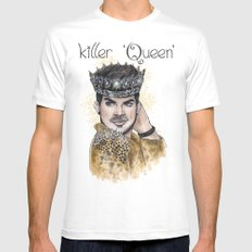 Killer Queen Mens Fitted Tee White MEDIUM