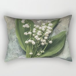 Beautiful Lily Of The Valley Rectangular Pillow