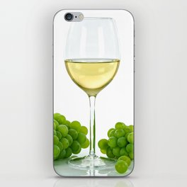 white wine and grapes iPhone Skin