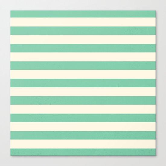 Mint Green Stripes  Canvas Print