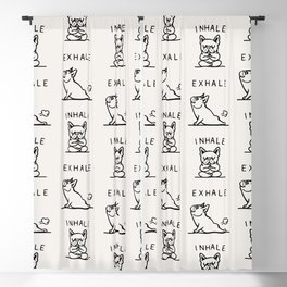 Inhale Exhale Frenchie Blackout Curtain