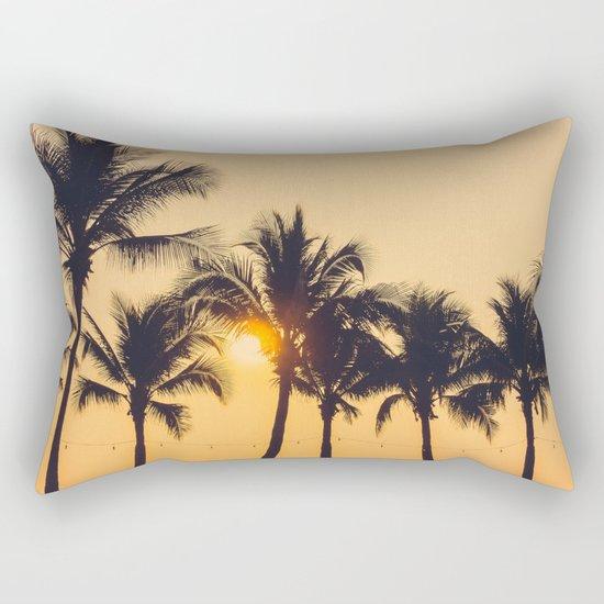 Good Vibes #society6 #palm trees Rectangular Pillow