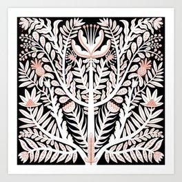 White folk floral Art Print