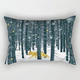 A Golden Fox In The Wild II Rectangular Pillow