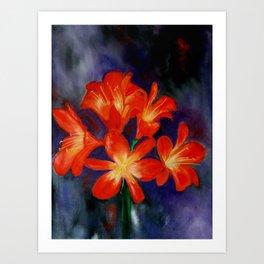 Cheerful clivia Art Print