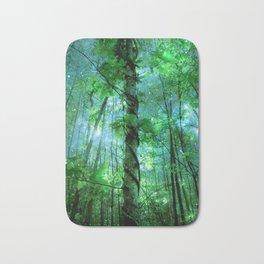 Forest Of The Fairies Green Blue Bath Mat