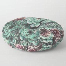 Succulent Sempervivum Plants Floor Pillow