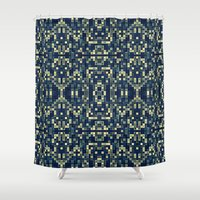 mosaic Shower Curtains featuring Mosaic by Simply Chic