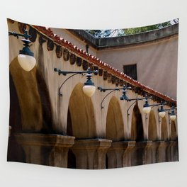 Row of lights Wall Tapestry
