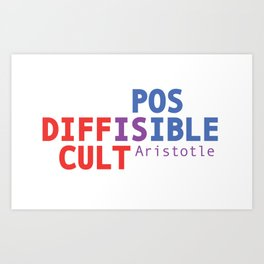 Difficult is Possible - Aristotle Art Print
