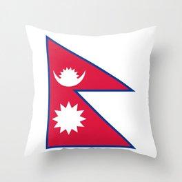 Nepal Flag Nepalese Nepali Triangle Flag Throw Pillow