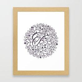 T - monogrammed initial T print Framed Art Print