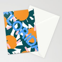 Retro Postmodern 80's Florida Travel Poster Stationery Cards