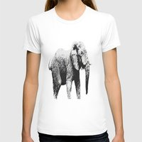 african T-shirts featuring African Elephant by T.E.Perry