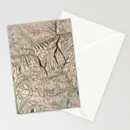 Vintage White Mountains Physical Map (1872) Stationery Cards