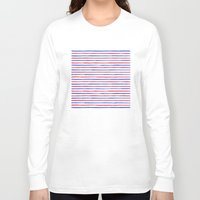 stripes Long Sleeve T-shirts featuring Stripes.  by Elena O'Neill