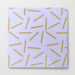 Pencil pattern Metal Print