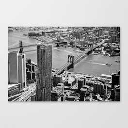 Brooklyn Bridge View - New York City Canvas Print