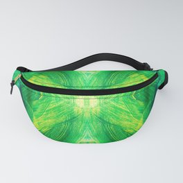 Brush play in hues of green 13 Fanny Pack