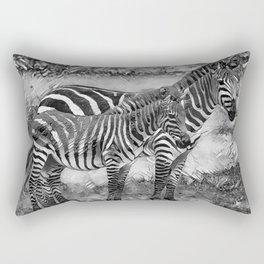 AnimalArtBW_Zebra_20170716_by_JAMColorsSpecial Rectangular Pillow