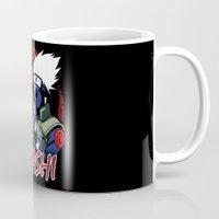 kakashi Mugs featuring KAKASHI by BradixArt