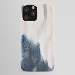 Blush Pink and Blue Pretty Abstract iPhone Case