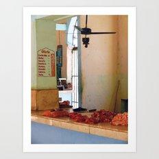 Butcher meat market - photography print Art Print