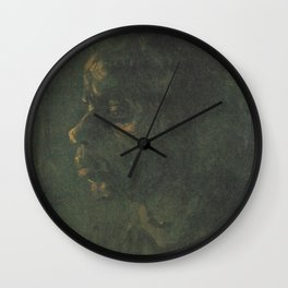 Head of a Peasant Woman Wall Clock