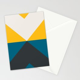 Split X Teal & Yellow Stationery Cards