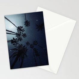 Palm Trees, Night Sky, Stars, Moon Stationery Cards