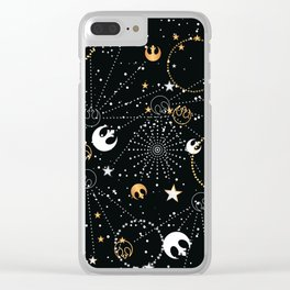 Galactic Pattern Clear iPhone Case