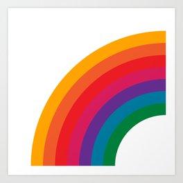 Retro Bright Rainbow - Left Side Art Print
