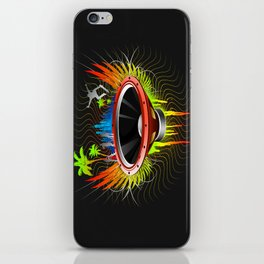 Ride the Bass Wave -Coloured- iPhone Skin