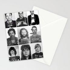Rock and Roll Mug Shots Stationery Cards